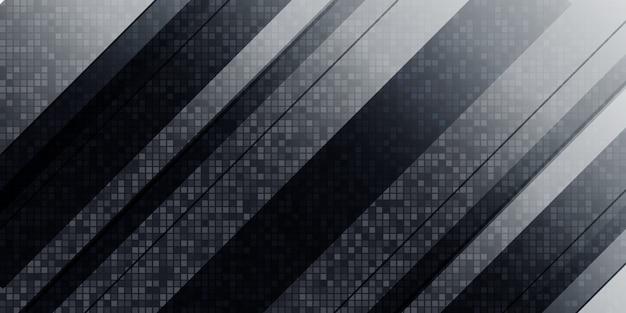 Abstrait géométrique noir et blanc