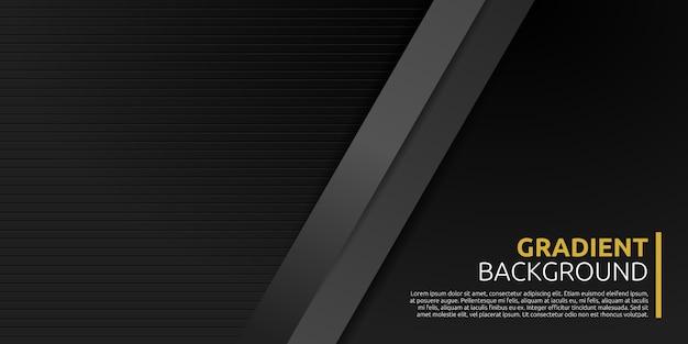 Abstrait géométrique noir