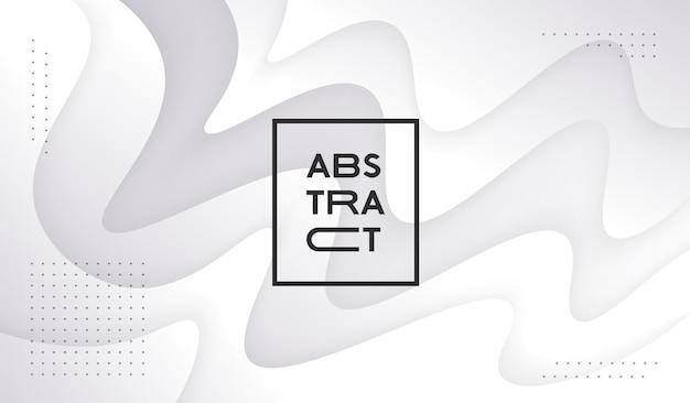Abstrait géométrique ondulé blanc. conception de vecteur de toile de fond liquide léger.