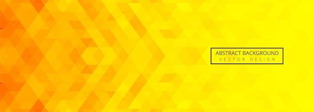 Abstrait géométrique orange et jaune