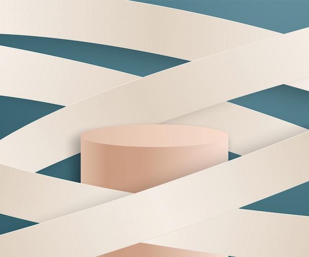 Abstrait géométrique avec podium.