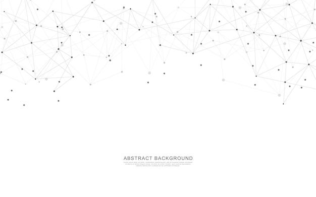 Abstrait géométrique avec points et lignes de connexion