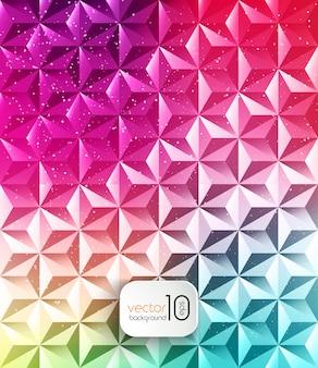 Abstrait géométrique polygonale brillant