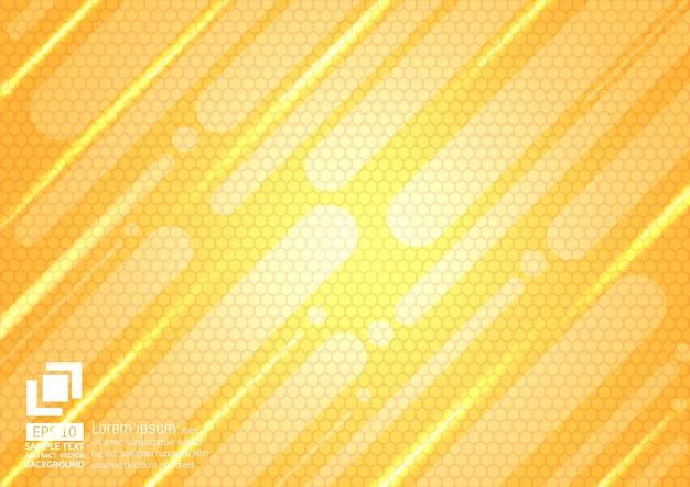 Abstrait géométrique et polygonale de couleur orange