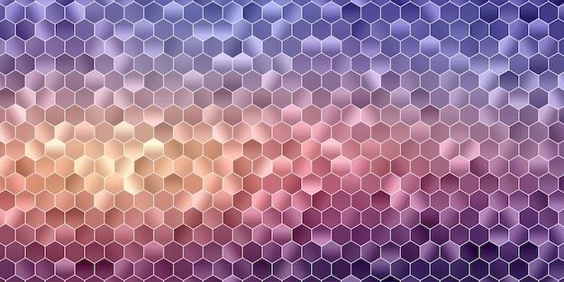 Abstrait géométrique polygonale. forme hexagonale colorée.