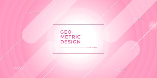 Abstrait géométrique rose