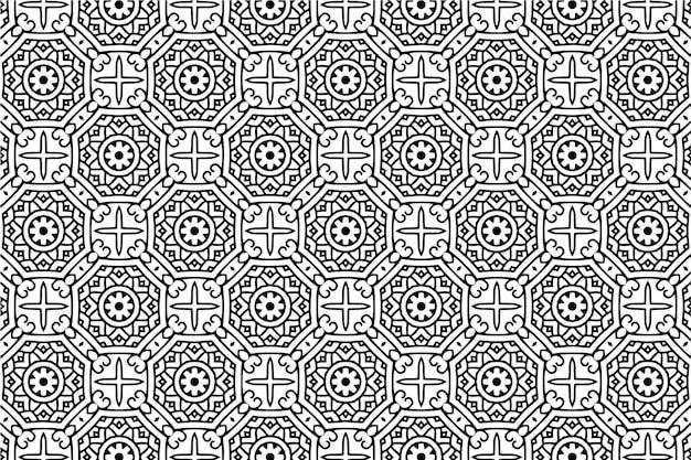 Abstrait géométrique sans soudure de fond