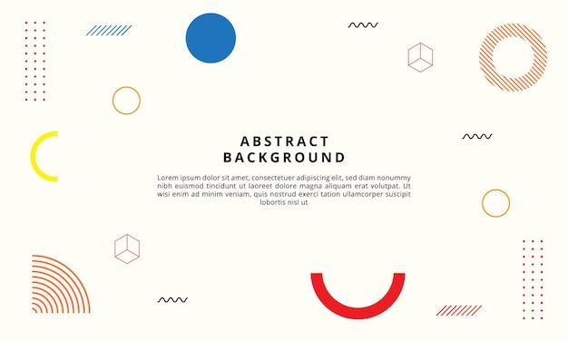 Abstrait géométrique avec style memphis