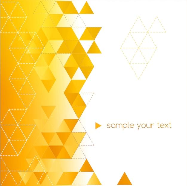 Abstrait géométrique avec triangle de couleur