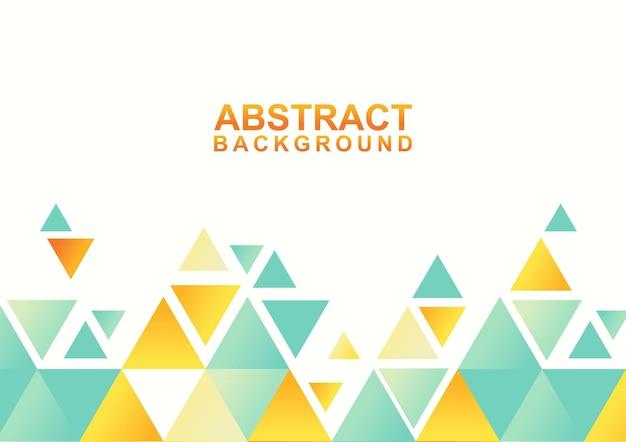 Abstrait géométrique avec triangle. modèle de conception colorée moderne abstraite
