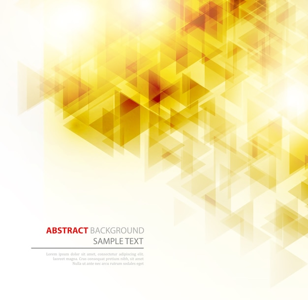Abstrait géométrique avec des triangles transparents. . conception de la brochure