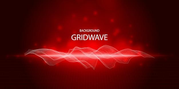 Abstrait avec gradient d'onde de ligne