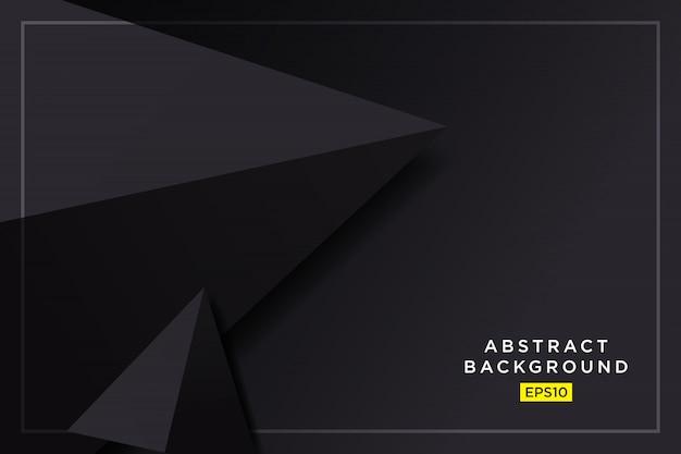 Abstrait graphique futuriste 3d triangles hipster noir