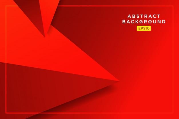Abstrait graphique futuriste 3d triangles hipster rouge