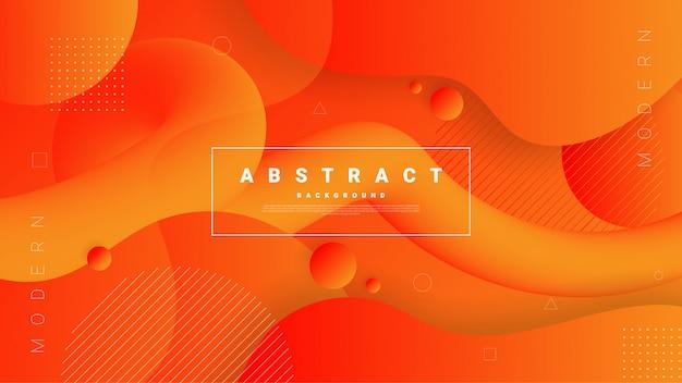 Abstrait graphique moderne. formes et vagues colorées dynamiques