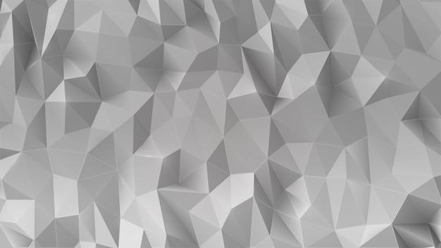 Abstrait gris 3d faible polygonale.