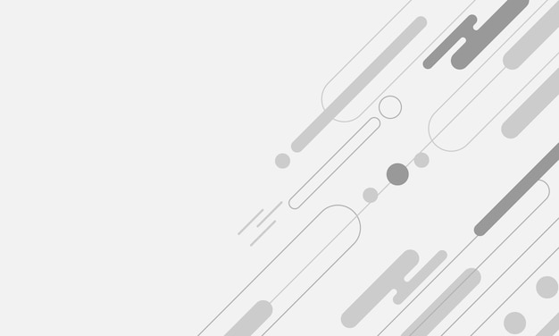 Abstrait gris clair avec des lignes de bordure arrondies diagonales blanches et grises et un motif de points géométriques. design moderne pour votre fond d'écran, site web de flyer.
