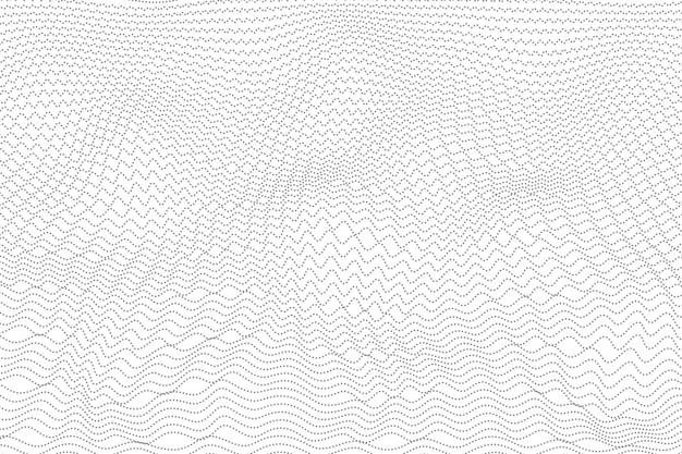 Abstrait gris conception de points ondulés.