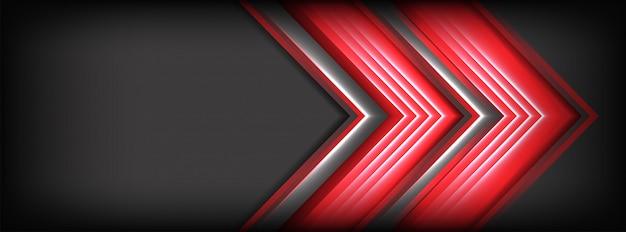 Abstrait gris foncé avec des lignes rouges met en évidence l'arrière-plan