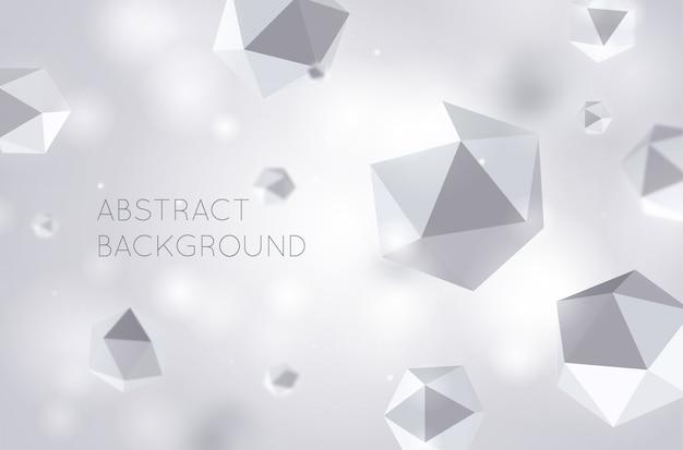 Abstrait gris hexagone