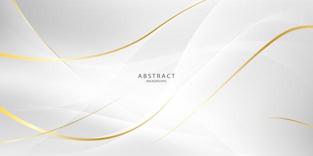 Abstrait gris et or avec des vagues dynamiques. réseau technologique.