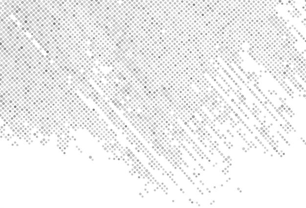 Abstrait gris en pointillé