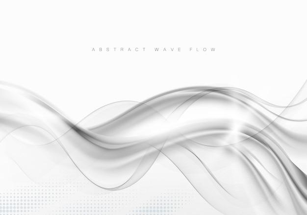 Abstrait gris avec des vagues et des ombres vague de flux gris