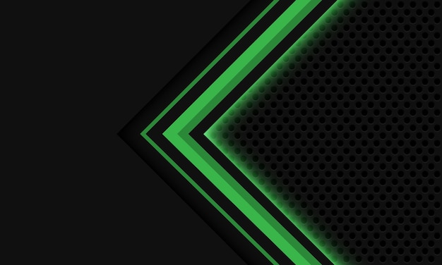 Abstrait gris vert flèche flèche cercle maille design luxe moderne technologie futuriste fond