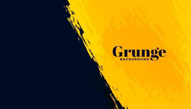 Abstrait grunge noir et jaune