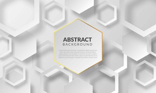 Abstrait hexagonal avec style papercut sur fond blanc