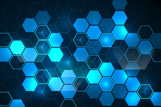 Abstrait Hexagonal Vecteur gratuit