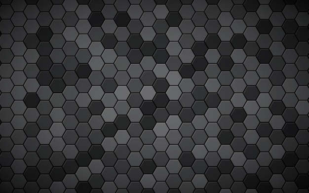 Abstrait hexagone noir