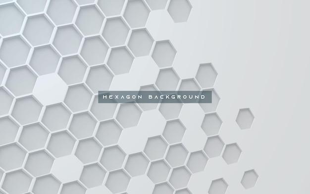 Abstrait hexagone texture fond blanc