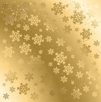 Abstrait hiver doré.