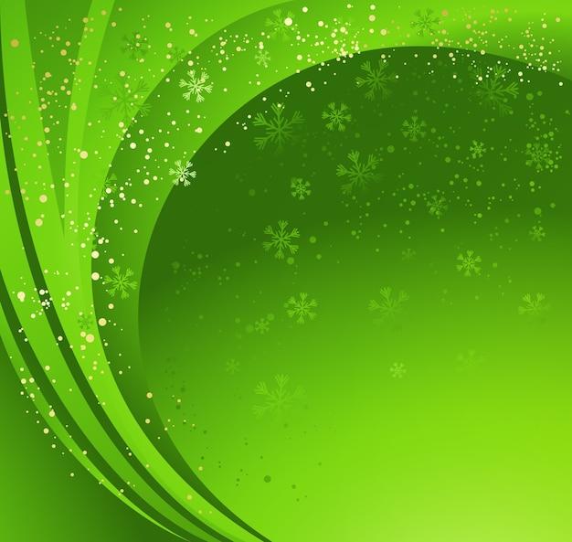 Abstrait hiver vert