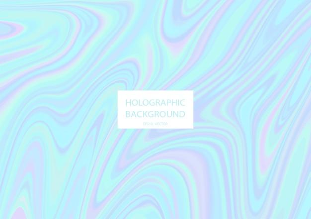 Abstrait holographique avec des couleurs pastel. .