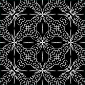Abstrait hypnotique motif transparent. illustration vectorielle
