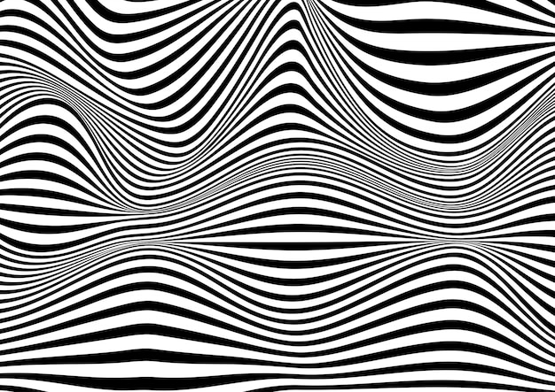 Abstrait illusion d'optique