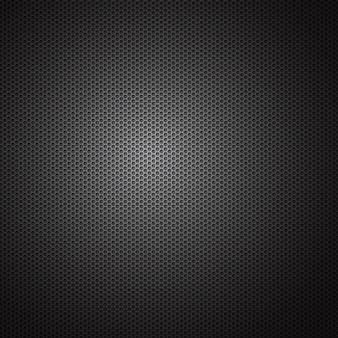 Abstrait industriel avec grille de carbone métallique de structure hexagonale