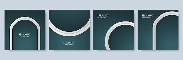 Abstrait islamique. mandala de luxe avec fond de style oriental islamique arabe royal arabesque d'or