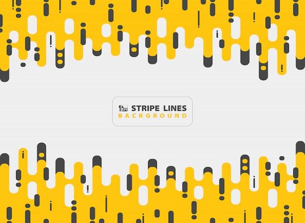 Abstrait jaune bande noire ligne modèle design moderne combinaison de fond.