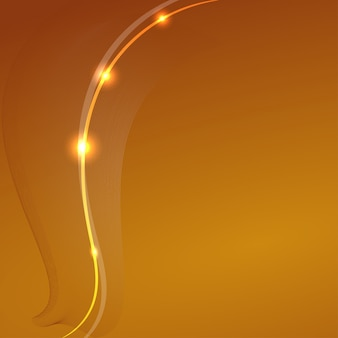Abstrait jaune avec un élément fantaisie