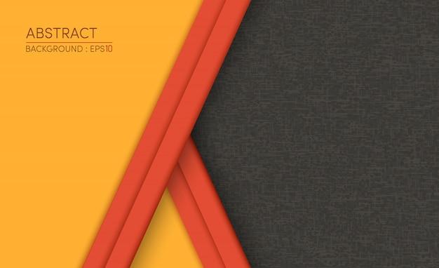 Abstrait jaune sur fond moderne design noir