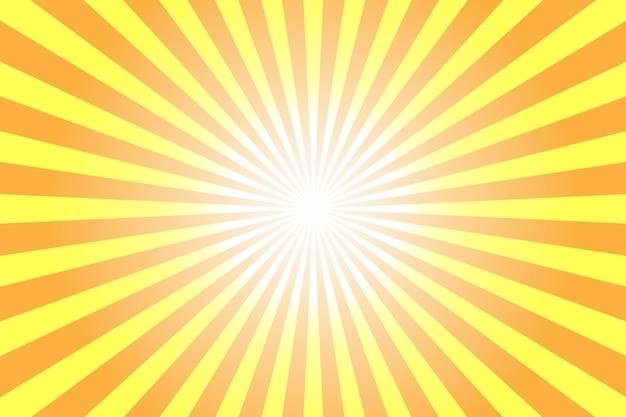 Abstrait jaune avec illustration de rayons de soleil