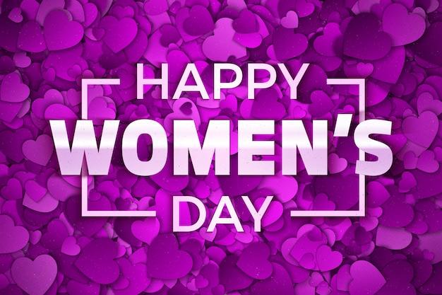 Abstrait de la journée de la femme heureuse
