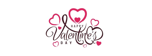 Abstrait joyeuse saint valentin belle bannière