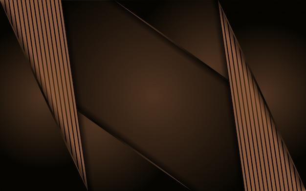 Abstrait de la ligne brune luxueuse