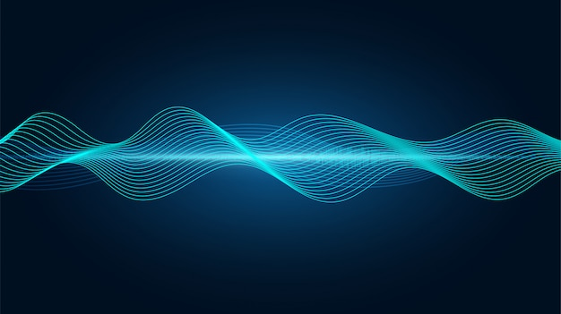 Abstrait ligne soundwave