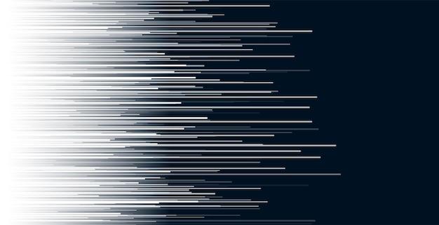 Abstrait de lignes blanches horizontales dynamiques