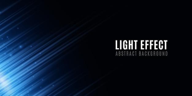 Abstrait de lignes bleues au néon aléatoire. effet lumineux pour votre design. effet de flou de mouvement. lignes de néon floue futuriste sur fond noir.